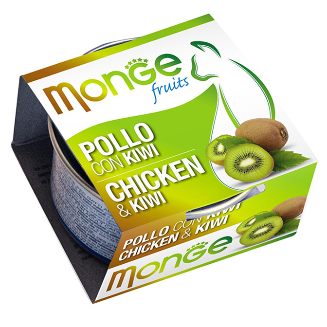 MONGE FRUITS POLLO CON KIWI GR80