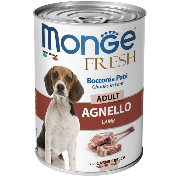 Monge FRESH lattina 40gr Bocconi in Paté con Agnello Adult