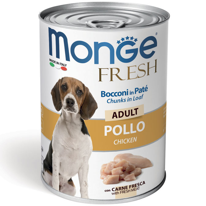 Monge FRESH lattina 40gr Bocconi in Paté con Pollo Adult