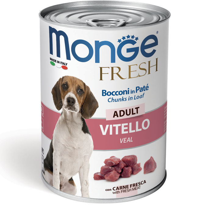 Monge FRESH lattina 40gr Bocconi in Paté con Vitello Adult