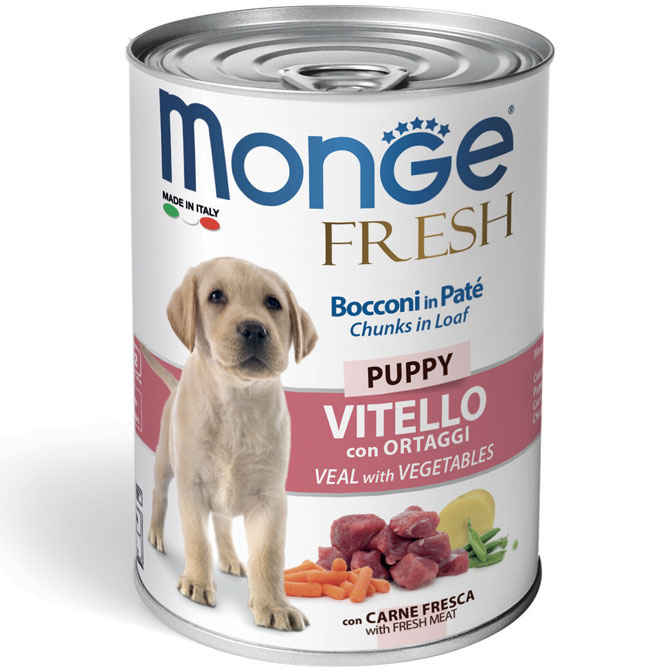 Monge FRESH lattina 40gr Bocconi in Paté con Vitello Puppy