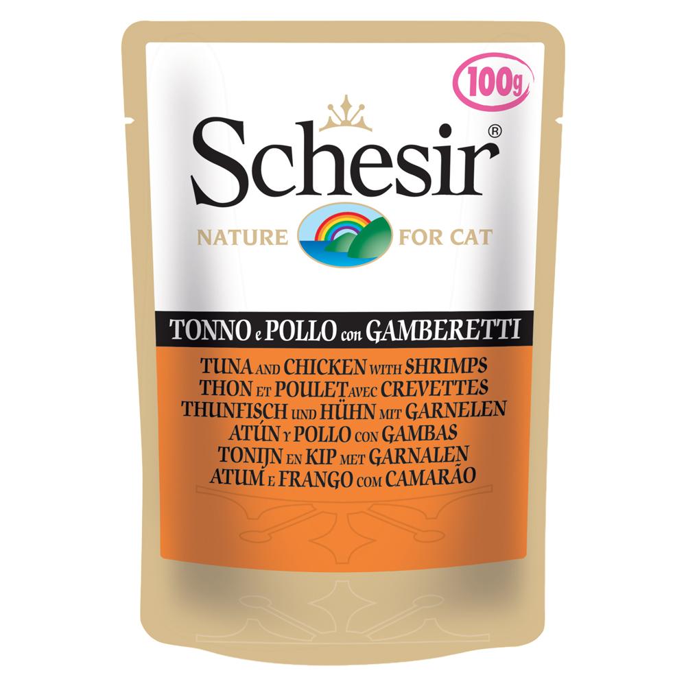 Schesir Tonnetto e pollo con gamberetti busta gr100