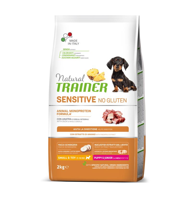 Natural Trainer Sensitive No Gluten Mini Puppy&Junior con Anatra kg2
