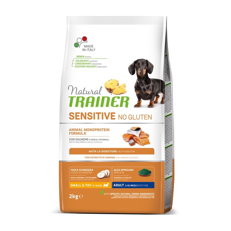 Natural Trainer Sensitive No Gluten Mini Adult con Salmone kg2