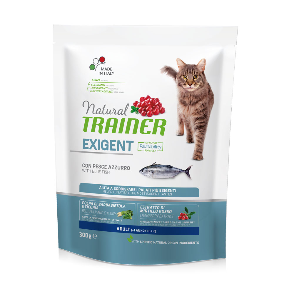 Natural TRAINER CAT Exigent Adult con Pesce Azzurro gr300