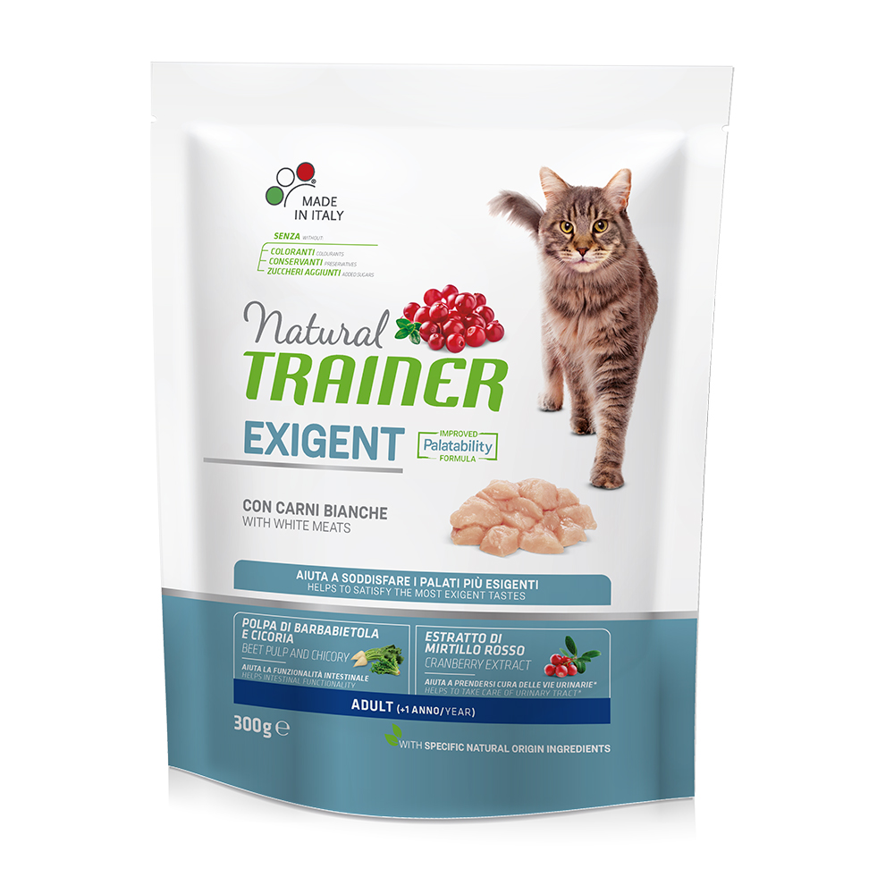 Natural TRAINER CAT Exigent Adult con Carni Bianche gr300