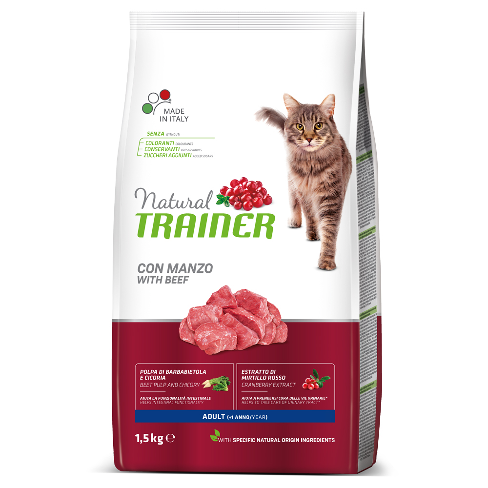 Natural TRAINER CAT Adult con MANZO kg1,5