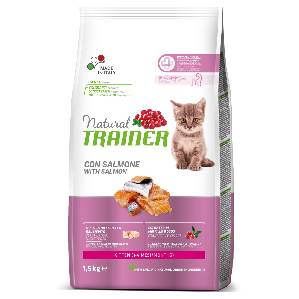 Natural TRAINER CAT Kitten con Salmone kg1,5