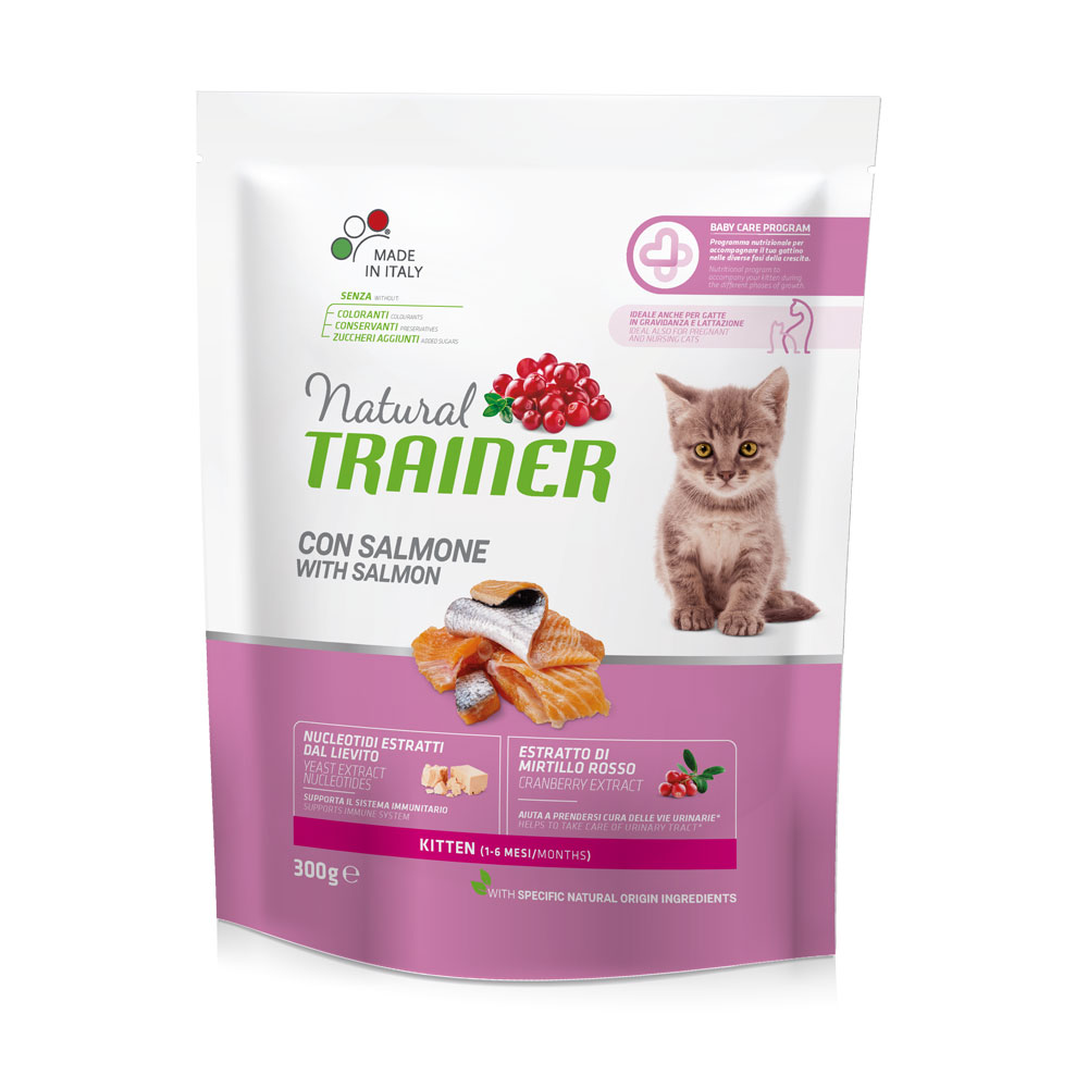 Natural TRAINER CAT Kitten con Salmone gr300