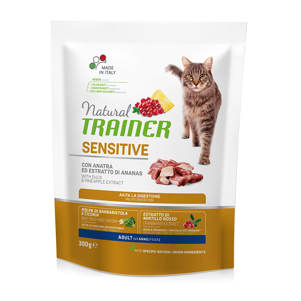 Natural TRAINER CAT Sensitive con Anatra gr300