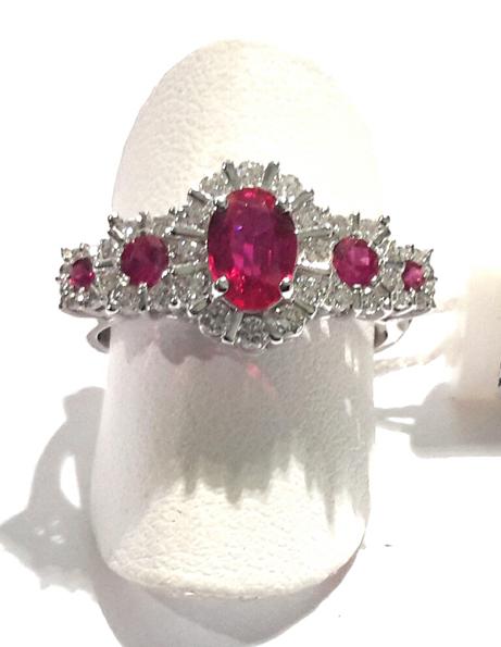 Anello fascia con rubini---ORDINABILE IN 20 GIORNI----