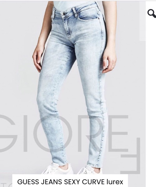 GUESS JEANS SEXY CURVE lurex