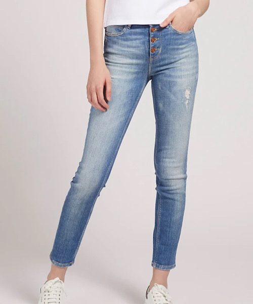 GUESS  JEANS  SKINNY  EXPOSED BUTTON