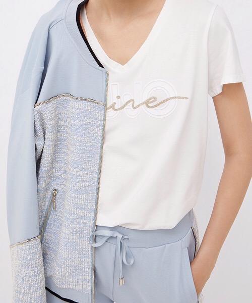 T-Shirt con logo e glitter  Liu Jo