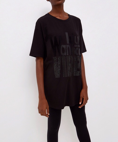 T-shirt oversize con stampa e strass  Liu Jo