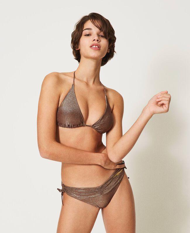 Twin-Set slip Brasiliana da bagno in lurex  Bikini 2021
