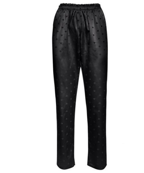 Verdissima  Pantaloni lunghi realizzati in raso nero jacquard