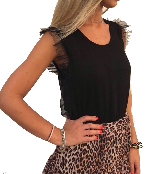 Top con tulle Twin-Set
