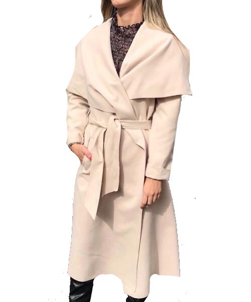 Cappotto  in panno Vanessa Scott color panna