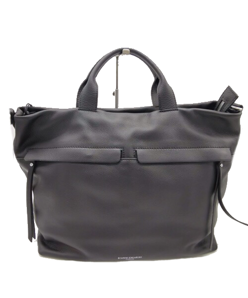 Shopping bag in pelle  nera Gianni Chiarini 7602