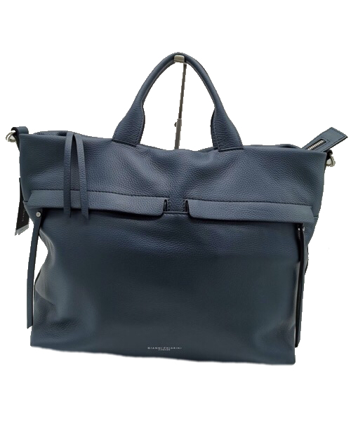 Shopping bag in pelle blu  Gianni Chiarini