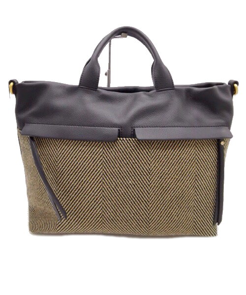 Shopping bag in pelle e tessuto  Gianni Chiarini