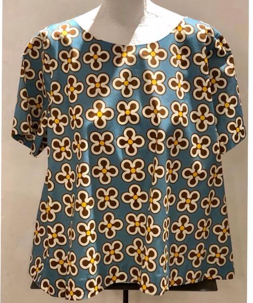 Blusa in cotone stampato  Niù