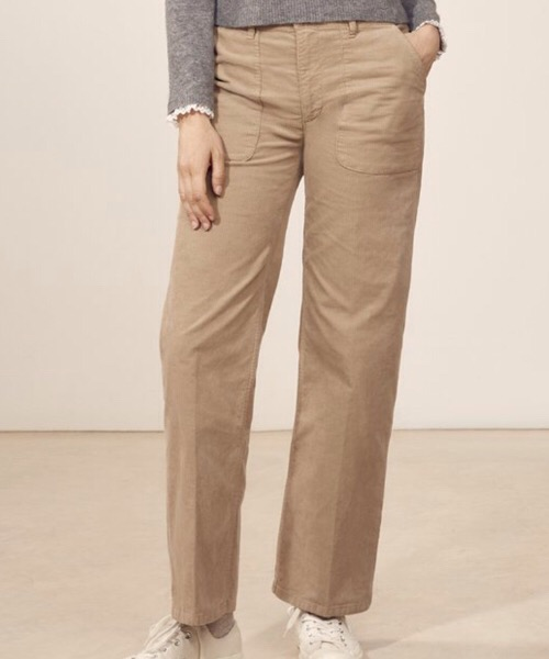 SUNDAY - Pantalone dritto in velluto Beige Lab Dip