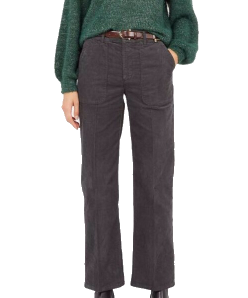 SUNDAY - Pantalone dritto in velluto Grigio  Lab Dip