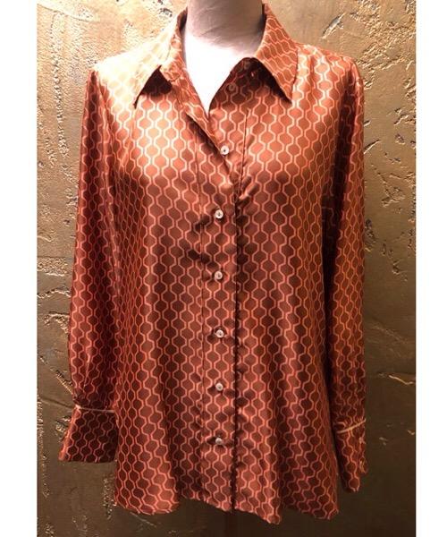 Camicia Momonì in twill di seta