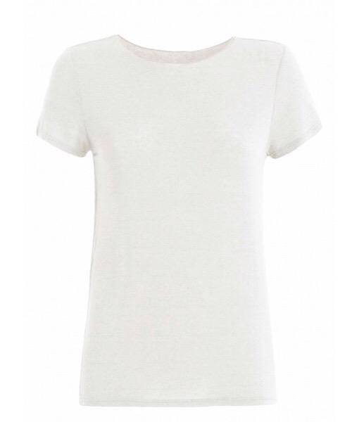 T-Shirt MAGLIETTA IN CASHMERE Deha white milk