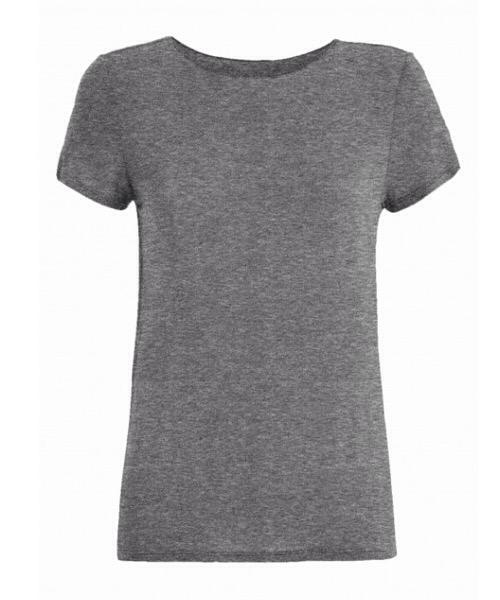 T-Shirt MAGLIETTA IN CASHMERE Deha silver gray