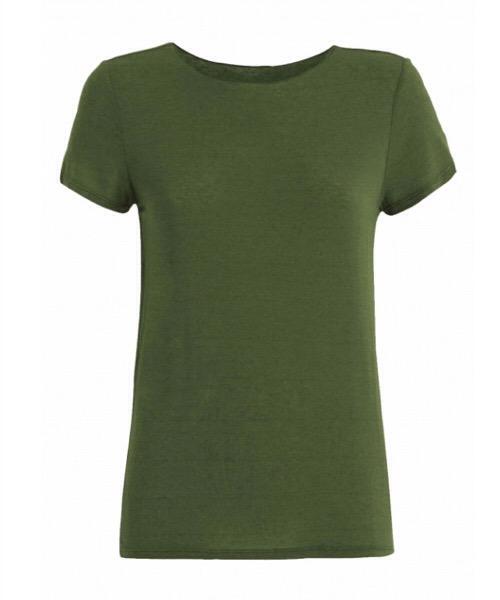 T-Shirt MAGLIETTA IN CASHMERE Deha olive green