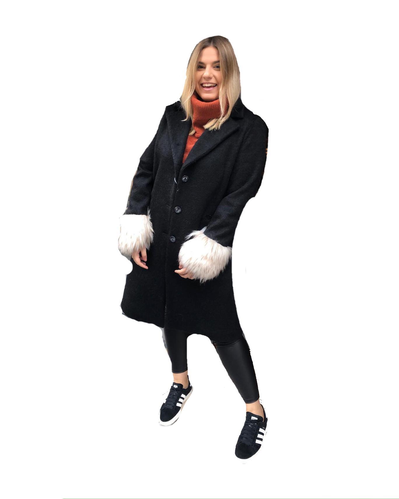 Cappotto con eco Pelliccia