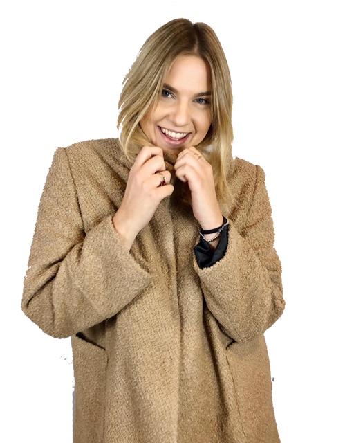 cappottino beige midi Lizalu