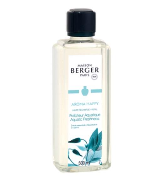 Maison Berger - Happy - Fraicheur Aquatique 500 ml / 1L (Ricarica per Lampe) catalitica