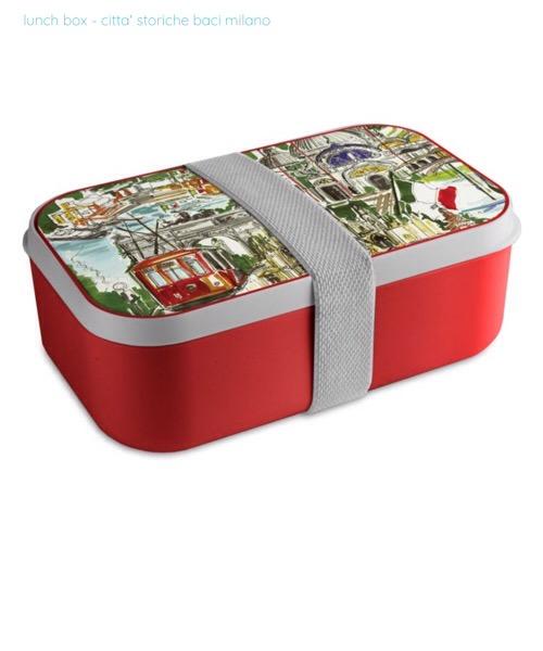 Lunch box/ contenitore per pranzo Città Storiche Baci Milano