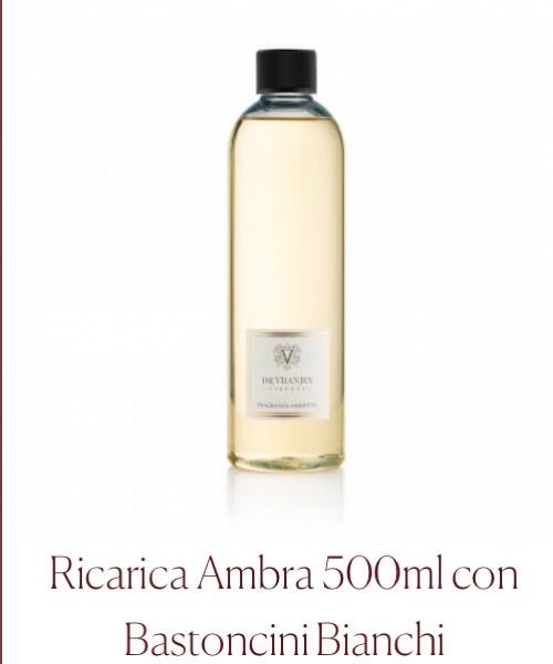 Fragranza ambiente Ricarica Ambra Dr.Vranjes Firenze con Bastoncini Bianchi