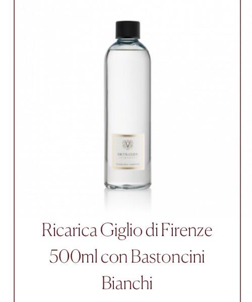 Fragranza d'ambiente   Ricarica  Giglio di Firenze Dr.Vranjes Firenze con Bastoncini Bianchi