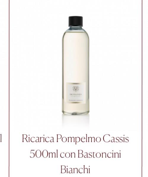 Fragranza ambiente Ricarica Pompelmo Cassis Dr.Vranjes Firenze