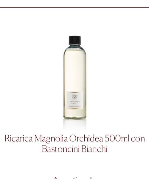 Fragranza d'ambiente Magnolia Orchidea Ricarica  Dr.Vranjes Firenze con Bastoncini Bianchi