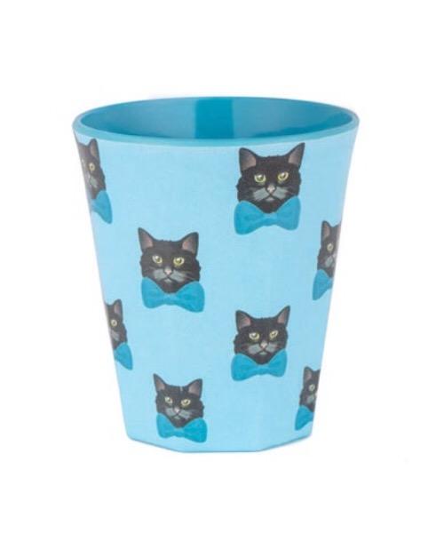 Quy Cup 250 ml Glass azzurro e rosso