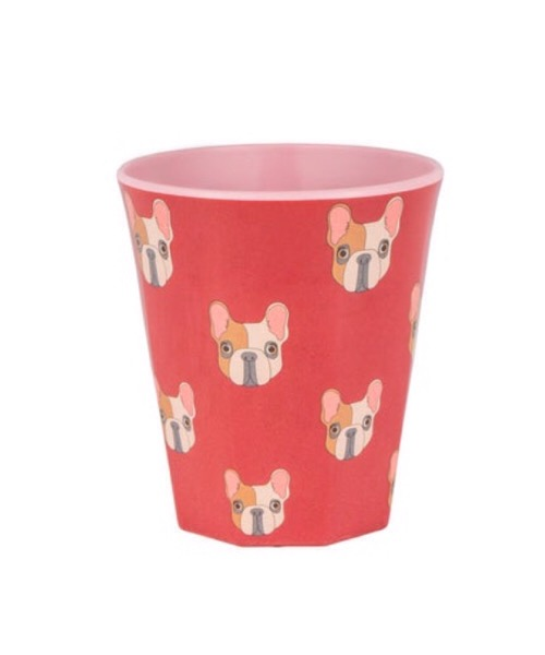 Quy Cup 250 ml Glass rosso  e raibow