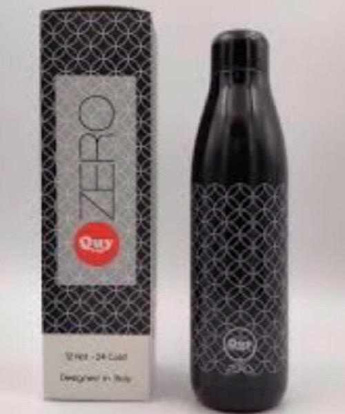 QUY CUP Zero 500ml. Thermos in Acciaio Inossidabile. Nera e fantasia