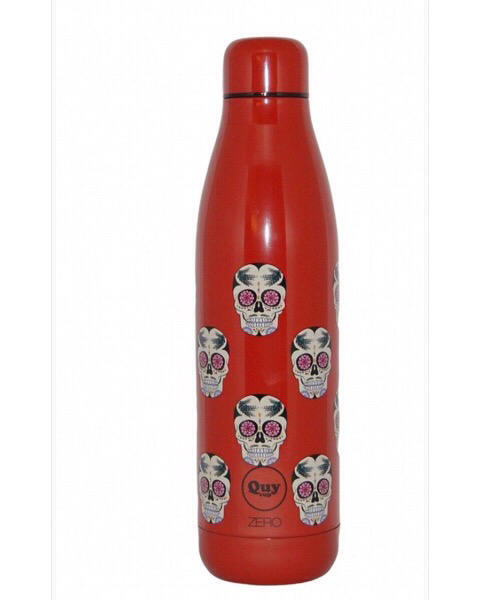 QUY CUP Zero 500ml. Thermos in Acciaio Inossidabile. Rossa e teschio