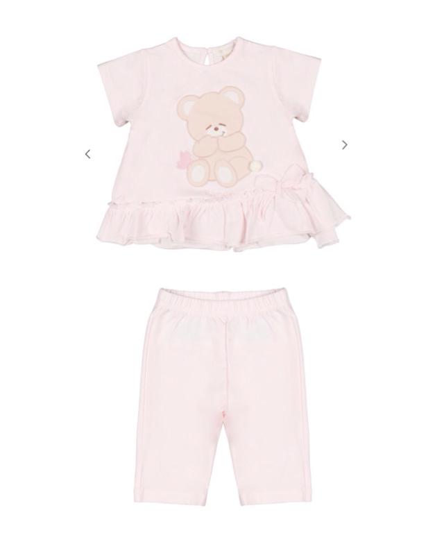 Nanan Completo T-Shirt + Leggings Rosa 'Farfallina'
