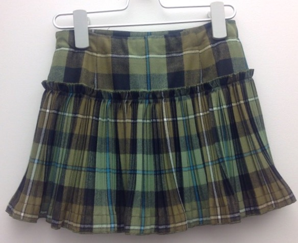 GONNA IN TESSUTO TARTAN