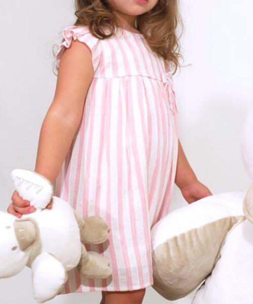 Vestito elegante neonata LALALÙ in lino