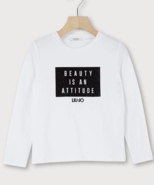 T-shirt con stampa glitter Liu Jo