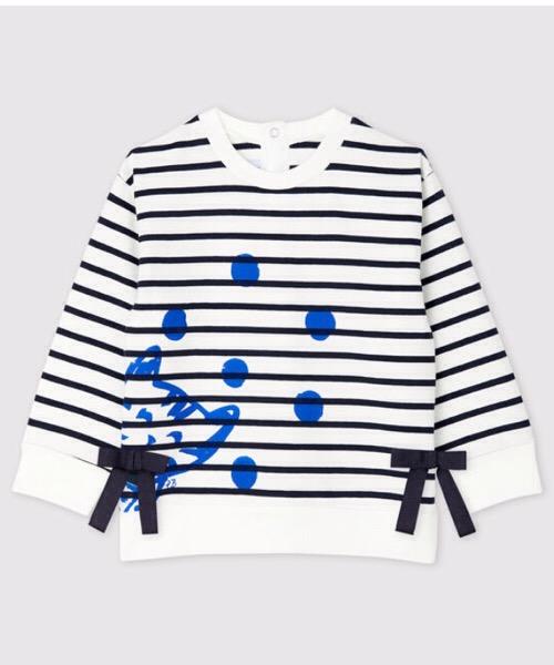 Marinière maniche lunghe in jersey bebè femmina Petit Bateau